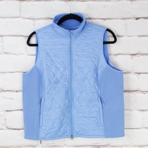 LL Bean Blue Quilted Vest Size 2X